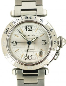 Cartier Pasha GMT 35mm art. Ca23