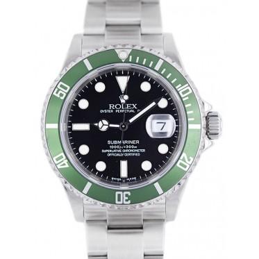 Rolex Submariner Ghiera Verde lettera F scatola e garanzia originale 02/2005 MARK III Art. Rb44