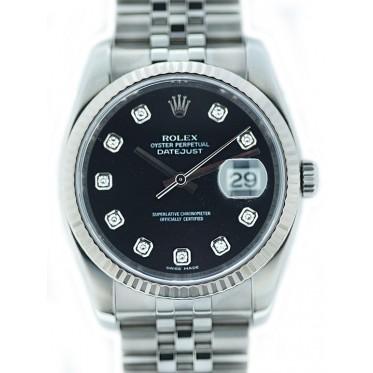 Rolex Datejust Ref. 116234 con diamanti 09/2008 Art. RJN78