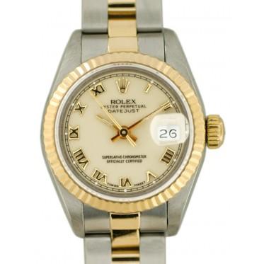 Rolex Lady Datejust acc oro zaffiro art. RL689tn