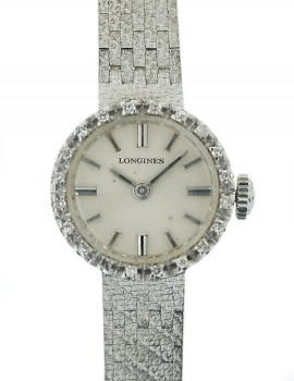 Longines Lady Vintage oro bianco diamanti art. L130