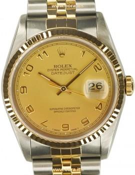 Rolex Datejust acc-oro zaffiro SCAT/GAR art. Rz147ce