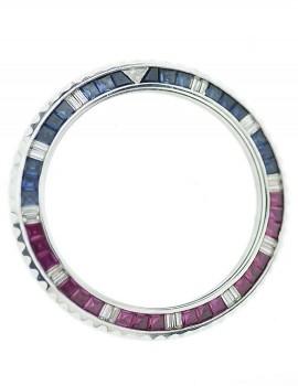 Rolex GMT lunetta girevole AFTER MARKET zaffiri rubini e diamant
