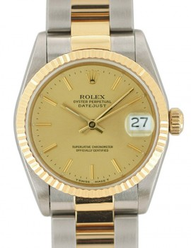 Rolex Medio Datejust acc- oro zaffiro art. Rm457