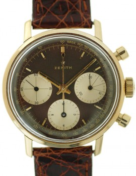 Zenith Vintage Oro Giallo Chrono Chocolate cal. 146HP art. Z79