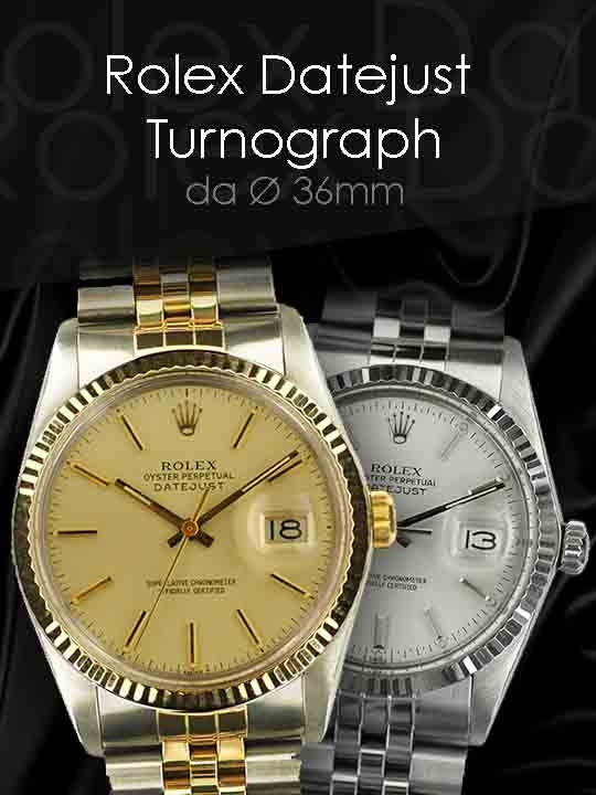 Rolex Datejust e Turnograph
