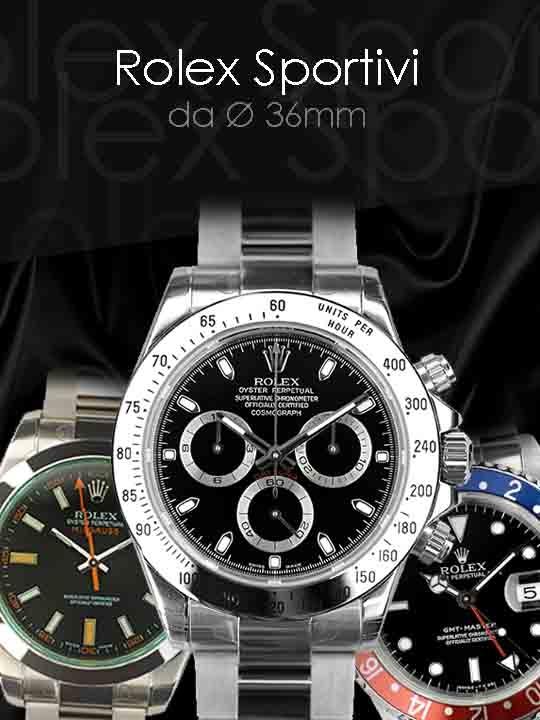 Sportivi Rolex (Submariner, Gmt, Explorer, Seadweller, Yacht Master, Milgauss, Daytona)